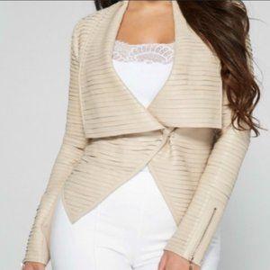 Marciano Shayna Beige Leather Jacket - Size 6